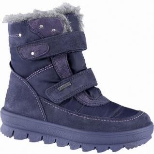 Superfit Mädchen Winter Leder Tex Boots blau, molliges Warmfutter, warmes Fußbett, mittlere Weite, 3741137/27