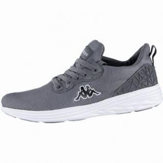 Kappa Paras modische Herren Mesh Synthetik Sneakers anthrazit white, Kappa Fußbett, 4239107
