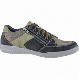 Jomos sportliche Herren Leder Sneakers schwarz, Jomos Aircomfort Fußbett, 2140217/43
