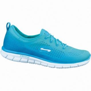 Skechers coole Damen Synthetik Sneakers blue green, Skechers Air-Cooled-Memory-Foam-Fußbett, 4036123