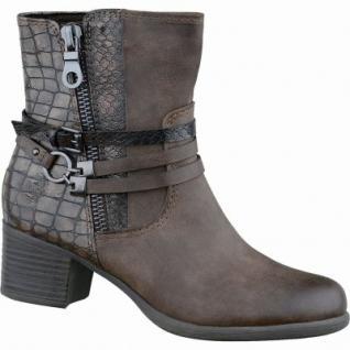 Marco Tozzi trendige Damen Synthetik Stiefel mud antik, leichtes Warmfutter, gepolsterte Feel me-Decksohle, 1637165