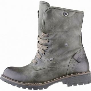 Jana Damen Leder Imitat Tex Boots olive, 17 cm Schaft, Extra Weite H, molliges Warmfutter, warme Decksohle, 1741169/42