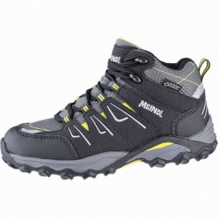 Meindl Alon Junior Mid GTX Jungen Leder Trekking Schuhe anthrazit, Air-Active Best-Fit-Fußbett, 4441120/35