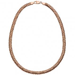 Königskette oval 925 Silber rotgold vergoldet 45 cm Kette Halskette Karabiner