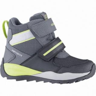 Geox Jungen Synthetik Amphibiox Boots black, 9 cm Schaft, Warmfutter, herausnehmbares Fußbett, 3741115/34