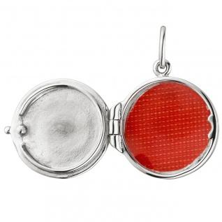 Medaillon rund für 1 Foto 925 Sterling Silber