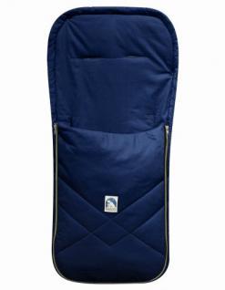 Baby Sommer Fußsack mit Baumwolle marineblau, waschbar, für Kinderwagen, Buggy, ca. 94x42 cm