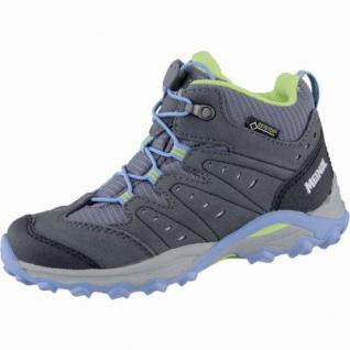 Meindl Tuam Junior GTX Mädchen Velour Mesh Trekking Boots türkis, Best-Fit-Fußbett, 4439121/37