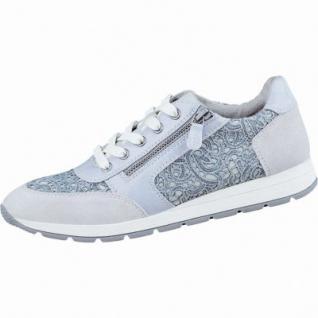 Jana modische Damen Edel Sneaker grey, Synthetik mit Macramé, Jana Fußbett mit Memory-Foam, Extra Weite H, 1336143/36
