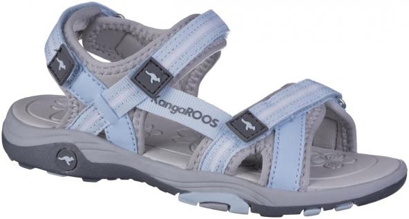 KANGAROOS K-Leni Mädchen Synthetik Sandalen blue sky, softes Kangaroos Fußbett