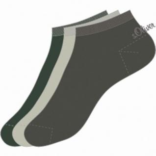 s.Oliver Classic NOS Unisex Sneaker, 3er Pack Damen, Herren Sneaker Socken taupe, linen, olive, 6533114/35-38 - Vorschau 2