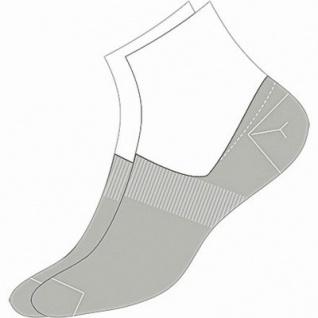 Camano Basic NOS Invisible grey, 2er Pack Damen, Herren unsichtbare Sneaker Socken grau, 74% Baumwolle, 6539112/39-42