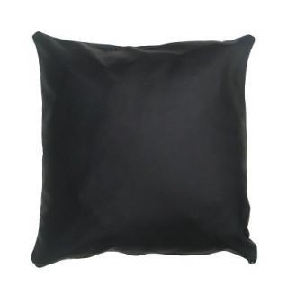 Leder Kissenhülle schwarz, 45x45 cm