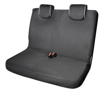 Serie Modulo ZIPP IT Polyester Autositzbezug Doppelbank schwarz mit Reißversc...