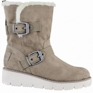 s.Oliver sportliche Damen Synthetik Winter Stiefel pepper, molliges Warmfutter, Soft-Foam-Fußbett, 1639337