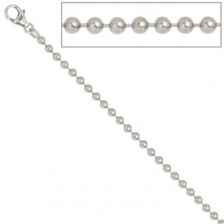 Kugelkette 925 Silber 3, 0 mm 45 cm Halskette Kette Silberkette Karabiner