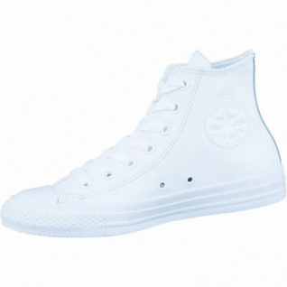 Converse CTAS Chuck Taylor All Star Core MONO Leather Damen und Herren Leder Chucks white monochrome, 1236216/44.5