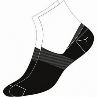 Camano Basic NOS Invisible black, 2er Pack Damen, Herren unsichtbare Sneaker Socken schwarz, 74% Baumwolle, 6539113/35-38