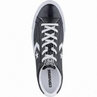 Converse Star Player OX coole Herren Leder Sneakers black, Converse Laufsohle, 214010948