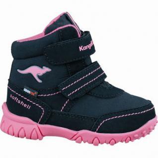 Kangaroos Raby Mädchen Synthetik Tex Boots black magenta, Textilfutter, weiches Fußbett, 3237102/23