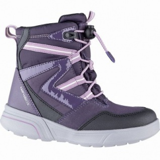Geox Mädchen Winter Synthetik Amphibiox Boots violet, 11 cm Schaft, molliges Warmfutter, herausnehmbare Einlegesohle, 3741110/35