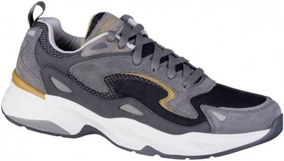 DOCKERS Herren Leder Sneakers grau, Textilfutter, Light Weight Laufsohle