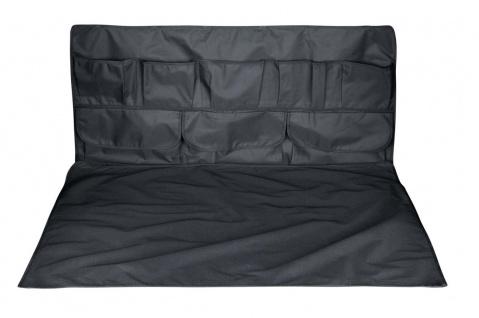 Kofferraum Schutzmatte + Kofferraum Organizer schwarz 2-teilig mit Taschen, w...