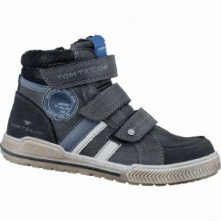 TOM TAILOR modische Jungen Synthetik Winter Sneakers schwarz, molliges Warmfutter, 3737123/31