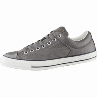 Converse CTAS Chuck Taylor All Star High Street Low coole Herren Leder Sneakers engine smoke, Textilfutter, 2139112/42.5