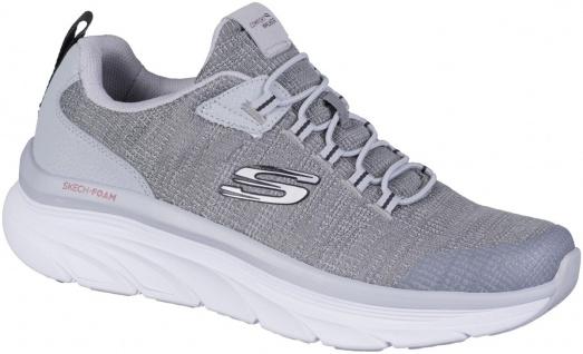 SKECHERS D Lux Walker Pensive Herren Sneakers grey, Strickmaterial, Air Coole...