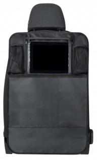 Kombination Universal Auto Tablet PC Halter + Kinder Rücksitz Organizer schwarz, 64x40 cm, Montage an der Rückenlehne