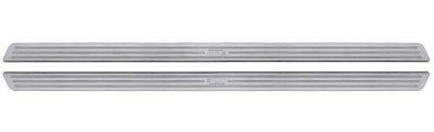 LAMPA 2er Set Universal Edelstahl Tür Einstiegsleisten 62, 5x3, 2 cm selbstklebend, schnelle Montage, alle Fahrzeuge