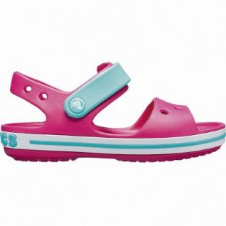 Crocs Crocband Sandal Kids coole Mädchen Sandalen mit Klettverschluss candy pink, weiche Laufsohle, 4342121/20-21