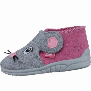 Beck Mäuschen Mädchen Filz Hausschuhe pink, anatomisches Fußbett