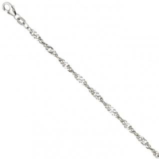 Singapurkette 925 Silber 2, 9 mm 45 cm Halskette Kette Silberkette Karabiner - Vorschau 1