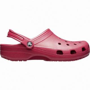 Crocs Classic coole Damen Clogs pomegrante, Massage Fußbett, Belüftungsöffnungen, 4341101/37-38