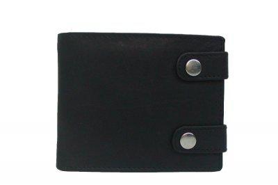 Damen und Herren Leder Ketten Börse schwarz, Biker Börse, 5xCC, Innenriegel, 2 Scheinfächer, ca. 12x9, 5 cm