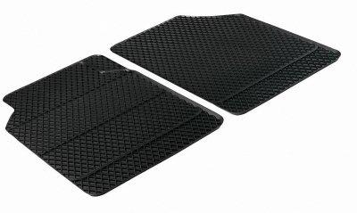 2 Stück Universal Auto Gummimatten schwarz vorn 43x66 cm, Anti Slip, rutschhemmend, Auto Fußmatten, Schutzmatten