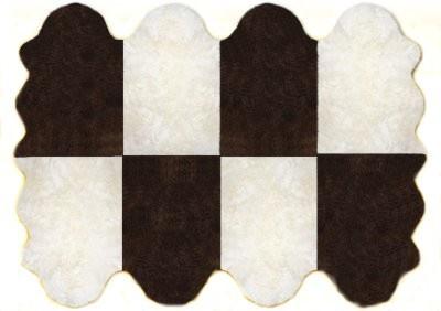 Fellteppiche naturweiß-braun aus 8 Lammfellen, Größe ca. 185 x 235 cm, 30 Grad...
