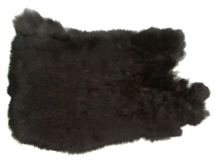 Kaninchenfelle dunkelbraun naturfarben, ca. 30x30 cm, Felle vom Kaninchen mit...
