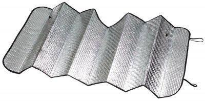 Auto PKW Front Sonnenschutz silber mit Luftkammern 130x60 cm, Saugnäpfe, Thermo Scheibenabdeckung