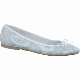 s.Oliver zarte Damen Ballerinas white snake, changierendes Synthetik im Snake-Design, gepolsterte Decksohle, 1236179