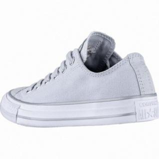 Converse CTAS - Metallic Toecap - OX coole Damen Canvas Metallic Sneakers platinum, Converse Laufsohle, 1240117/36.5 - Vorschau 2