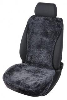 kuschelweiche Universal Lammfell Autositz Auflage schwarz für alle PKW, Sommer + Winter, 100% australische Lammfelle