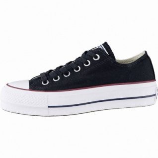 Converse Chuck Taylor All Star Lift - Ox Damen Canvas Sneakers black, 40 mm Plateausohle, 4142136/36