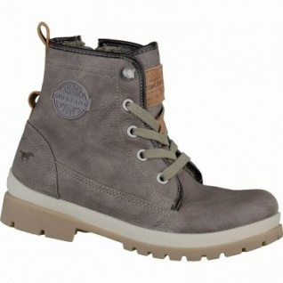 Mustang coole Jungen Leder-Imitat Winter Boots erde, Warmfutter, warme Decksohle, 3737118/36