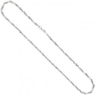 Singapurkette 925 Silber 2, 9 mm 45 cm Halskette Kette Silberkette Karabiner - Vorschau 3