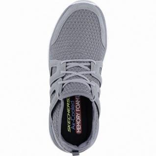 Skechers Rough cut coole Herren Leder Mesh Sneakers charcoal, Skechers Air Cooled Memory Foam-Fußbett, 4240168/42 - Vorschau 2