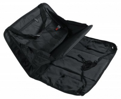 LAMPA praktischer Nylon Rücksitz Organizer mit herunterklappbarer Ablagefläche schwarz, Rücksitz Tasche, Rückenlehnentasche