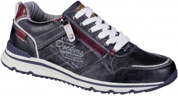 DOCKERS Herren Leder Imitat Sneakers navy, Textilfutter, weiche herausnehmbar...